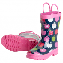 Girls Hatley Wellies - Nordic Apples