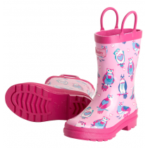 Girls Hatley Wellies - Happy Owls