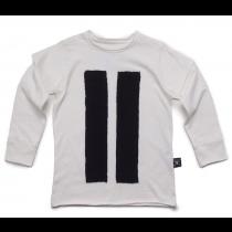 nununu STRIPED PATCH tee shirt - white