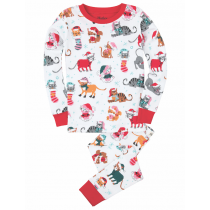 Hatley Girls Pyjamas - Christmas Cats