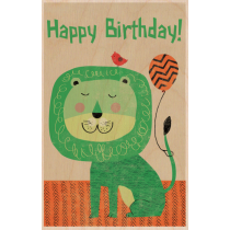 SKiN&BLiSS Birthday Card - LION