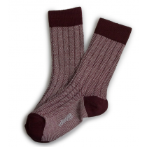 Collegien Socks for Dad - Aubergine Heritage Grain de Caviar