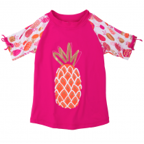 Hatley Girls Short Sleeve Rashguard - Pineapples