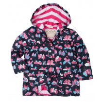 Girls Hatley Raincoat - Butterflies