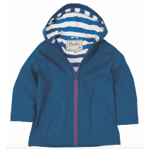 Boys Hatley Raincoat - Navy Splash Jacket