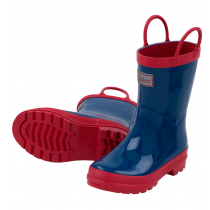 Boys Hatley Wellies - Navy & Red