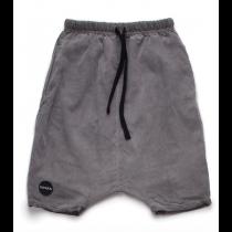 nununu - LOW CROTCH BAGGY SHORTS - Dyed Grey