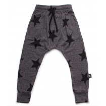 nununu - STAR BAGGY PANTS - charcoal