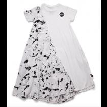 nununu - 1/2 & 1/2 SPLASH DRESS - white