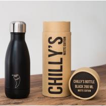Chilly's Bottles - Monochrome Matte - Black 260ml