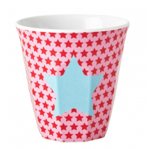 Rice - Kids Melamine Cup - Star Print in Pink