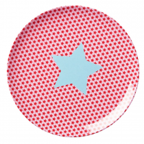 Rice - Kids Lunch Plate - Star Print in Pink