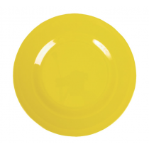 Rice - Kids Melamine Plate - Solid Yellow