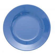 Rice - Kids Melamine Plate - Solid Dusty Blue