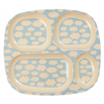 Rice - Kids Lunch Plate - Cloud Print