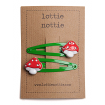 lottie nottie - TOAD STOOL - Hair Clips