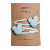 lottie nottie - BIRDS - Blue Hair Clips