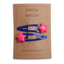 lottie nottie - STAR - Pink Hair Clips