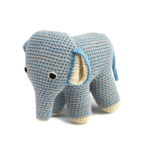anne-claire petit - Handmade Crochet Elephant - Summer Blue