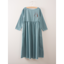 BOBO CHOSES - Princess Dress - Loup de Mer Embroidery