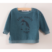 BOBO CHOSES - Baby Sweatshirt - Keep Waters Tidy
