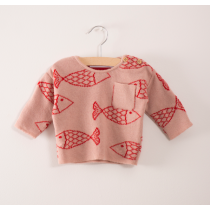 BOBO CHOSES - Baby Knitted Jumper - Shoaling Fish