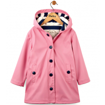 Girls Hatley Raincoat - Pink Splash Jacket
