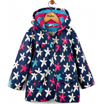 Girls Hatley Raincoat - Starflowers
