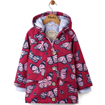 Girls Hatley Coated Raincoat - Kaleidoscope