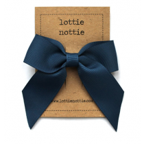 lottie nottie - Classic Navy Bow Hair Clip