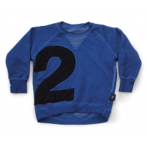 nununu - PUFFY NUMBERED SWEATSHIRT - Dirty Blue