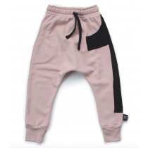 nununu - PUFFY NUMBERED BAGGY PANTS - Powder Pink