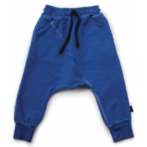 nununu - DIAGONAL BAGGY PANTS - Dirty Blue