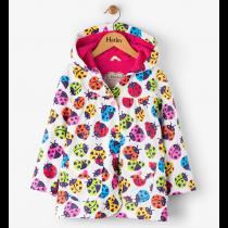 Girls Hatley Raincoat - Ladybirds