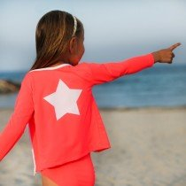 Petit Crabe - Long Sleeved Swimshirt - Star in Grenadine