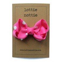 lottie nottie - Twisted Bow - Hot Pink