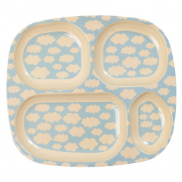 Rice - Kids Lunch Plate - Cloud Print