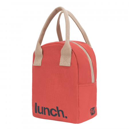 Fluf Lunch Bag | Zipper | Red