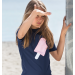 Petit Crabe - Short Sleeved Swimshirt - Navy Ice Cream