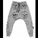 nununu | Skull Robot Baggy Pants | Heather Grey