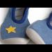Collegien | Ballerina Slippers | Blue Jeans with Star | detail