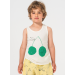 bobo choses | cherry | linen tank top