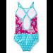 Hatley Swimwear | Girls Colourblock Swimsuit | Sea Turtles | rear view