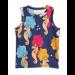 mini rodini | seahorse tank top | navy blue