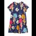 mini rodini   short sleeve seahorse dress   navy