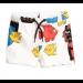 mini rodini | cat mermaid swimshorts | off white
