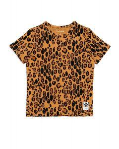 Mini Rodini Leopard Short Sleeve Tee | Organic Cotton