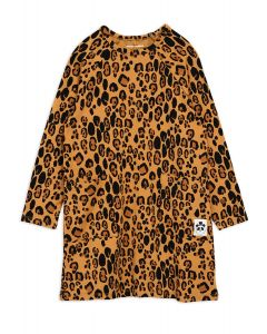 Mini Rodini Leopard Long Sleeve Dress | Organic Cotton