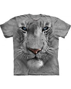 Mountain - Big Face Tee - White Tiger