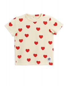 Mini Rodini | Hearts Tee Shirt | 100% Organic Cotton | SKiN&BLiSS